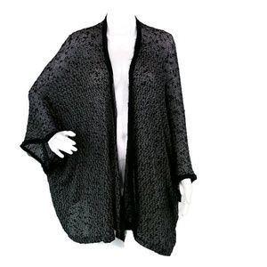 UO Sparkle & Fade Black Open Front Cardigan QQ05